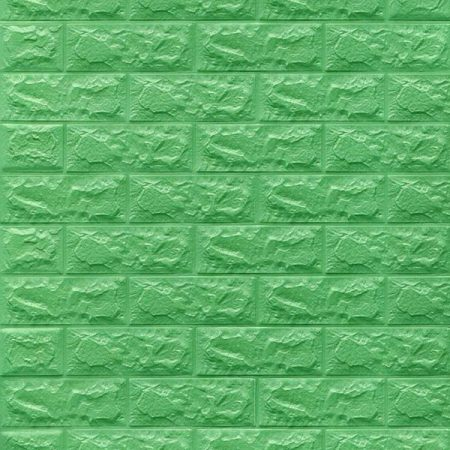 3d tapete zelena cigla